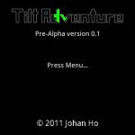 Tilt Adventure Title Screen