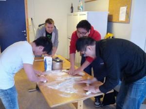 Making dumpling dough