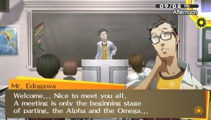 Persona 4 Golden School Lecture