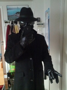 My half-assed Spider-Man Noir costume.