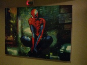 The hotel we stayed at in Taipei wasn't all that clean or high class, but it did have this awesome art piece! Apparently it's a print of the cover for Spider-Man: Timestorm 2009-2099.