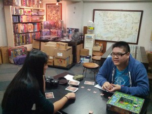 My brother found this board game shop in Taipei, it was kind of cool and had quite a few board games! We could also try as many games as we wanted for 80TWD per person.